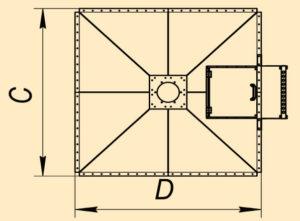 Бункеры квадратные