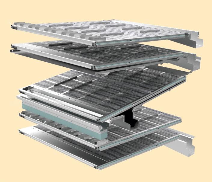 z-схема расположения решетных поверхностей