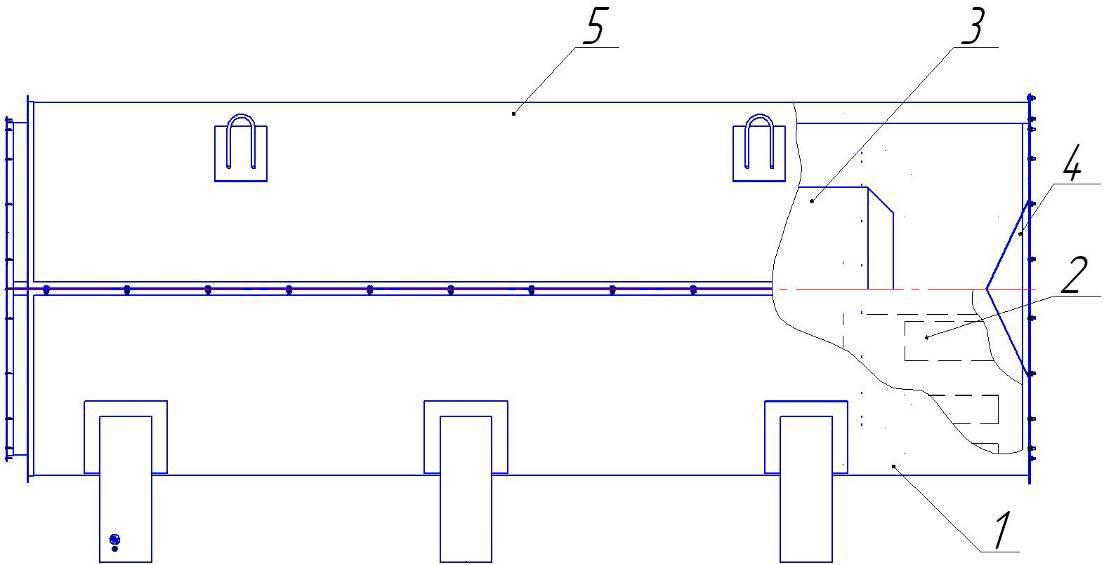 Блок топки воздухонагревателя смесительного типа