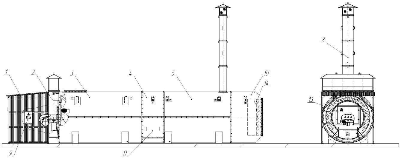 Воздухонагреватель универсальный на жидком и газовом топливе